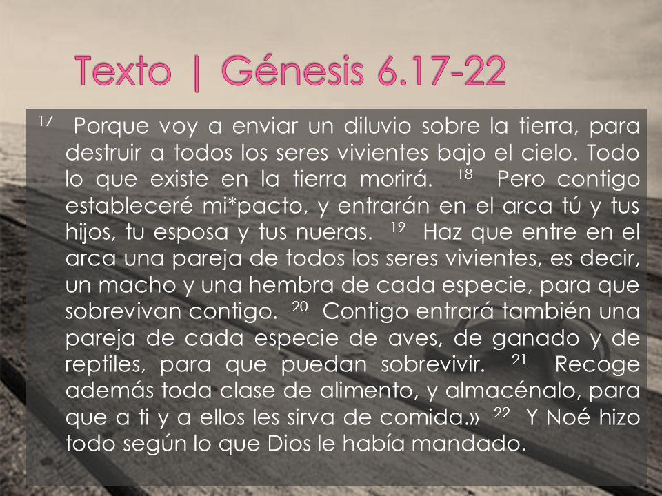 Texto | Génesis 6.17-22