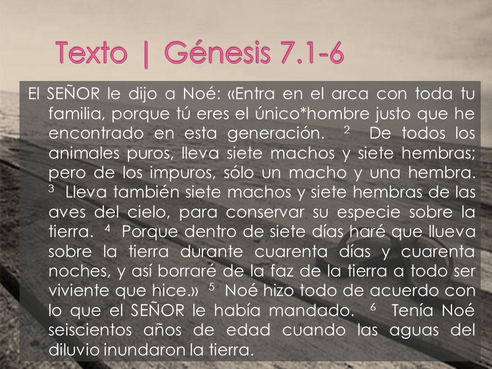 Texto | Génesis 7.1-6