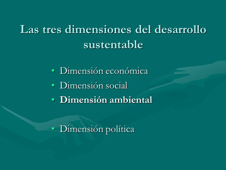 Las tres dimensiones del desarrollo sustentable