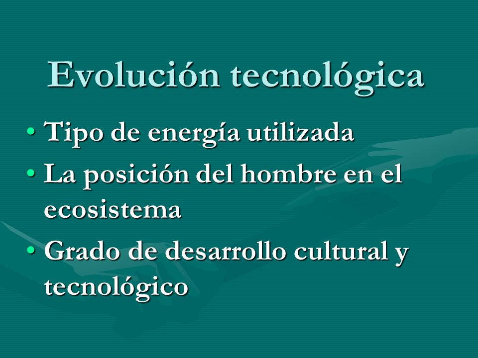 Evolución tecnológica