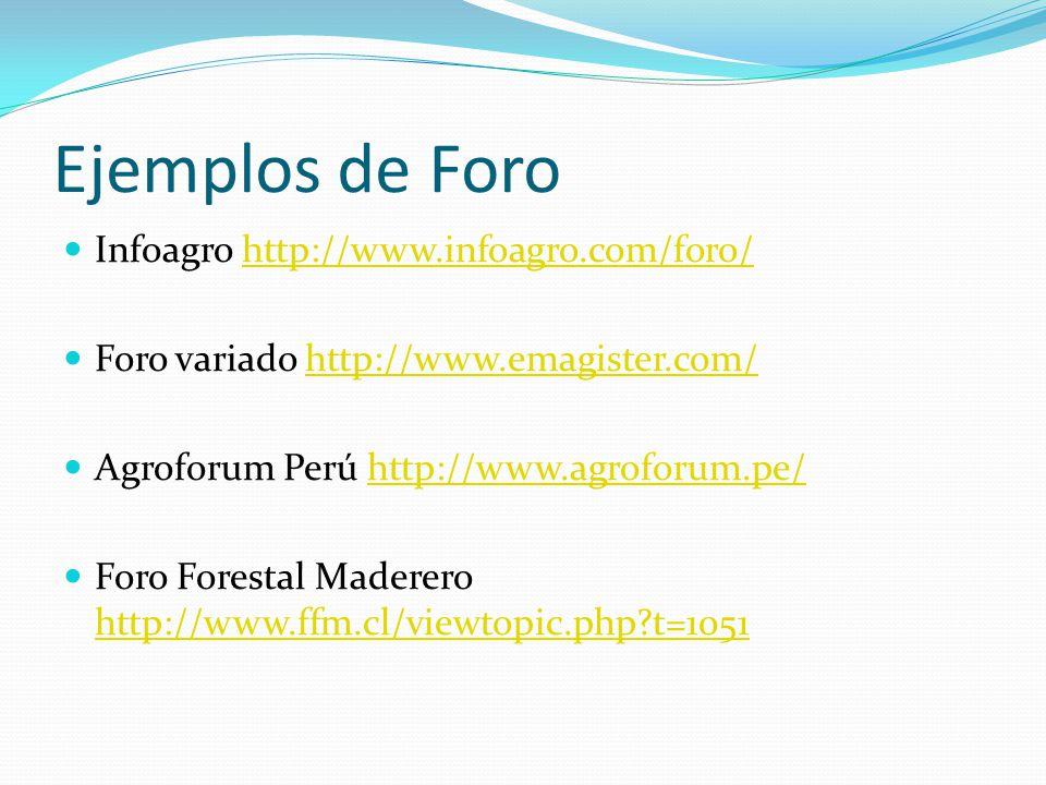 Ejemplos de Foro Infoagro http://www.infoagro.com/foro/