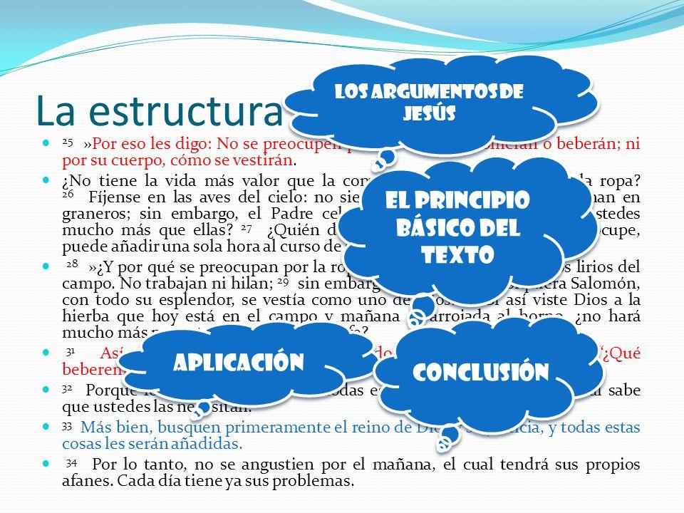 La estructura del texto…