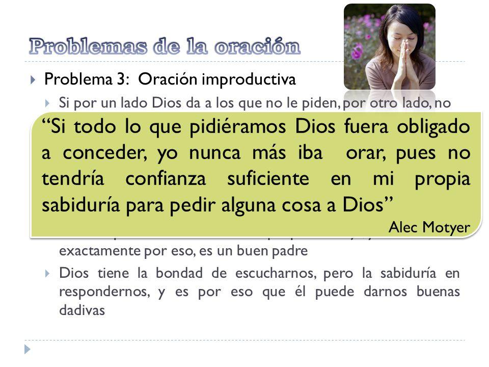 Problemas de la oración