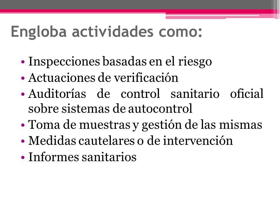 Engloba actividades como: