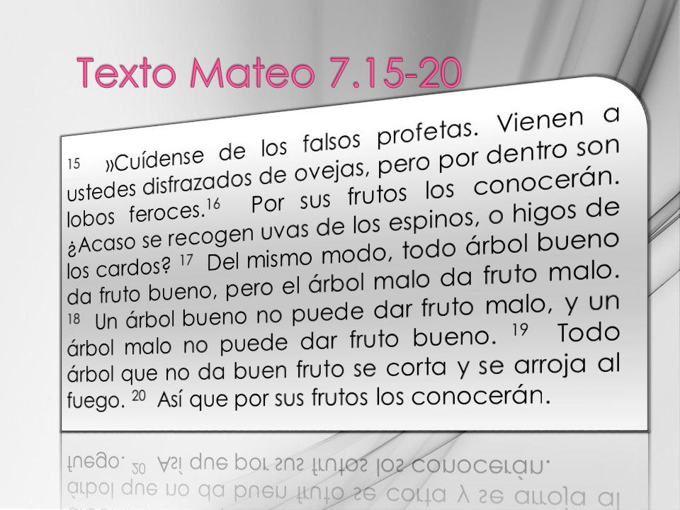 Texto Mateo 7.15-20