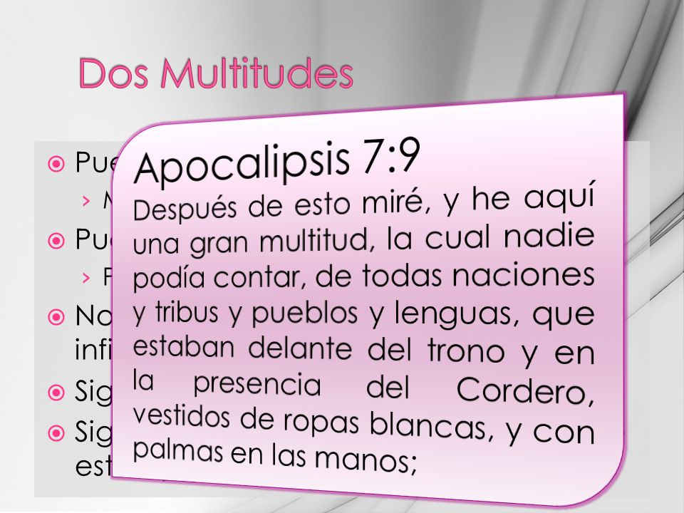 Apocalipsis 7:9 Dos Multitudes