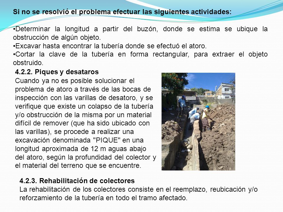 Si no se resolvió el problema efectuar las siguientes actividades: