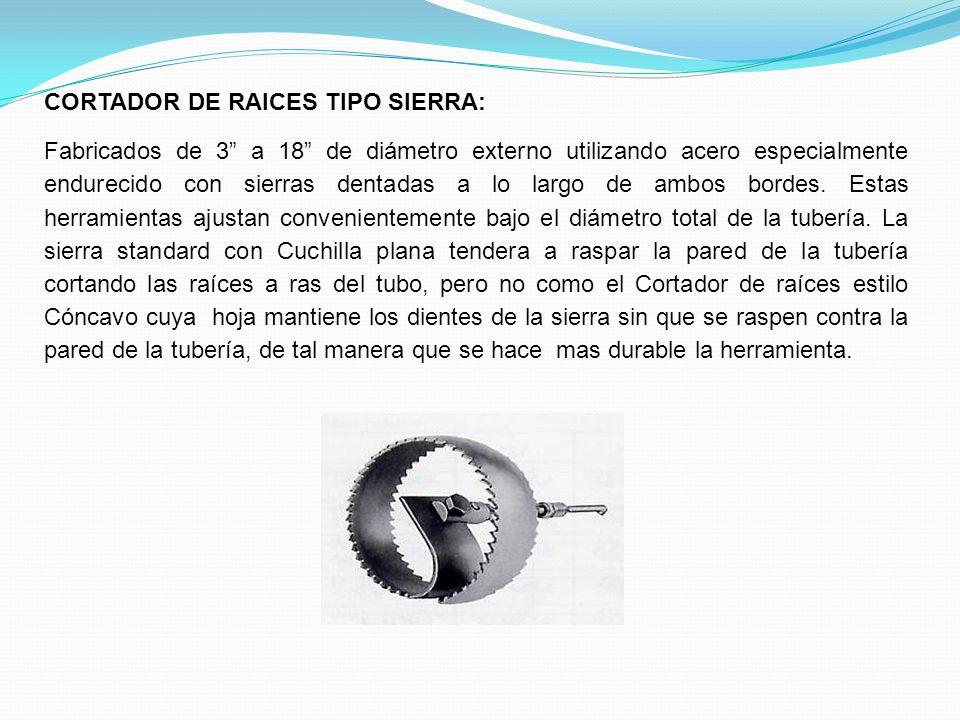 CORTADOR DE RAICES TIPO SIERRA: