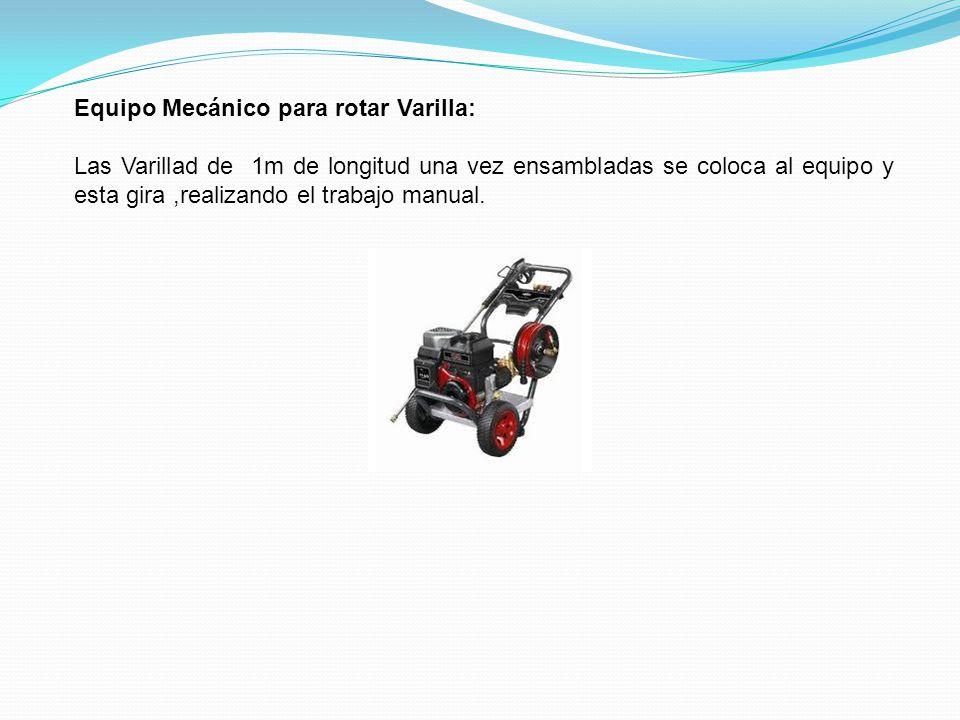 Equipo Mecánico para rotar Varilla: