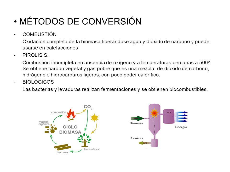 MÉTODOS DE CONVERSIÓN COMBUSTIÓN