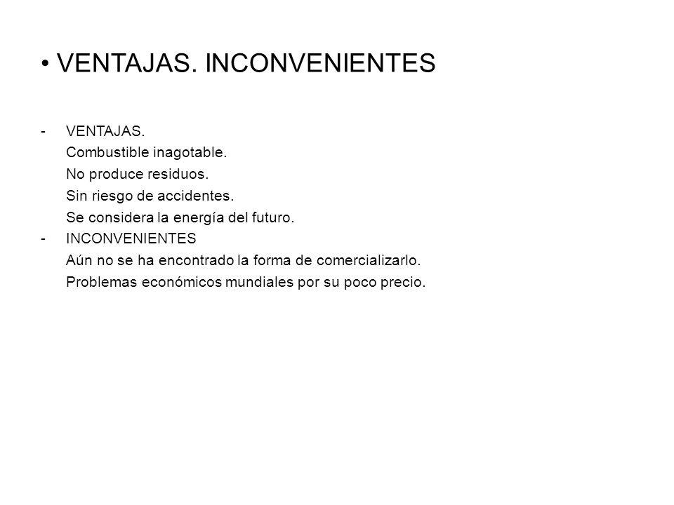 VENTAJAS. INCONVENIENTES