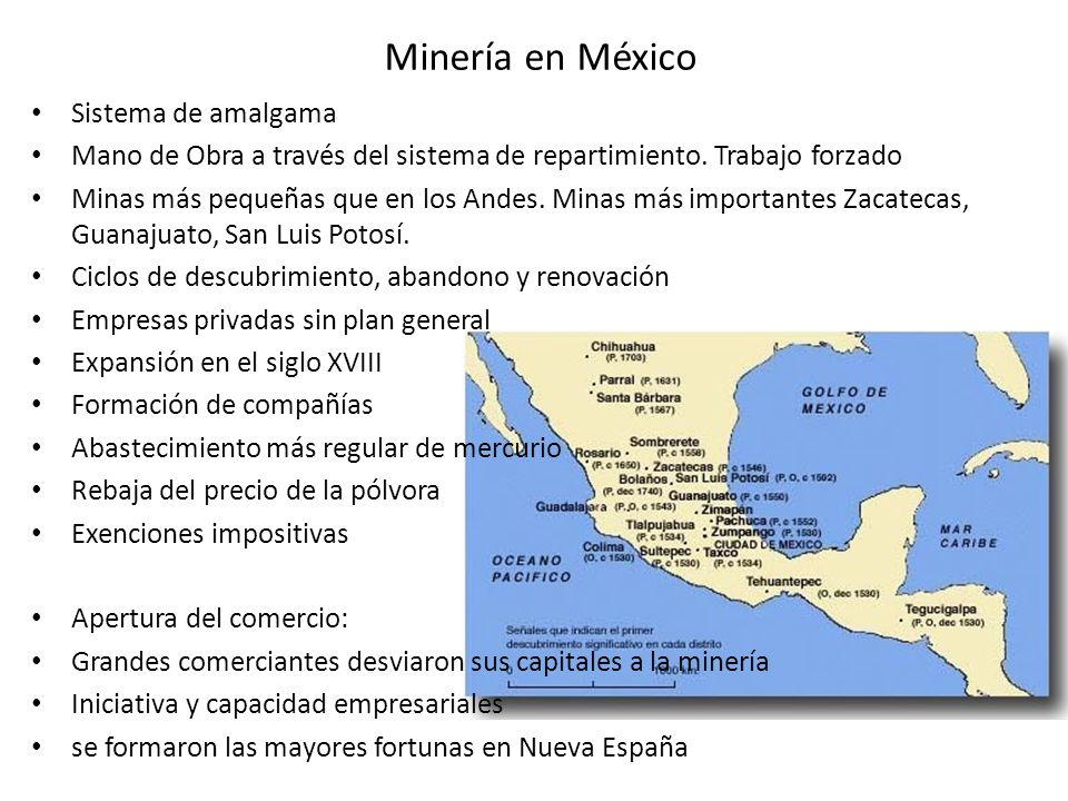 Minería en México Sistema de amalgama