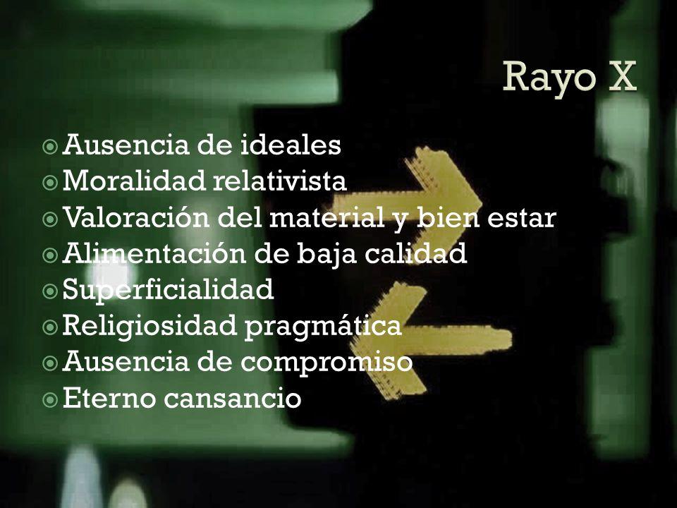 Rayo X Ausencia de ideales Moralidad relativista
