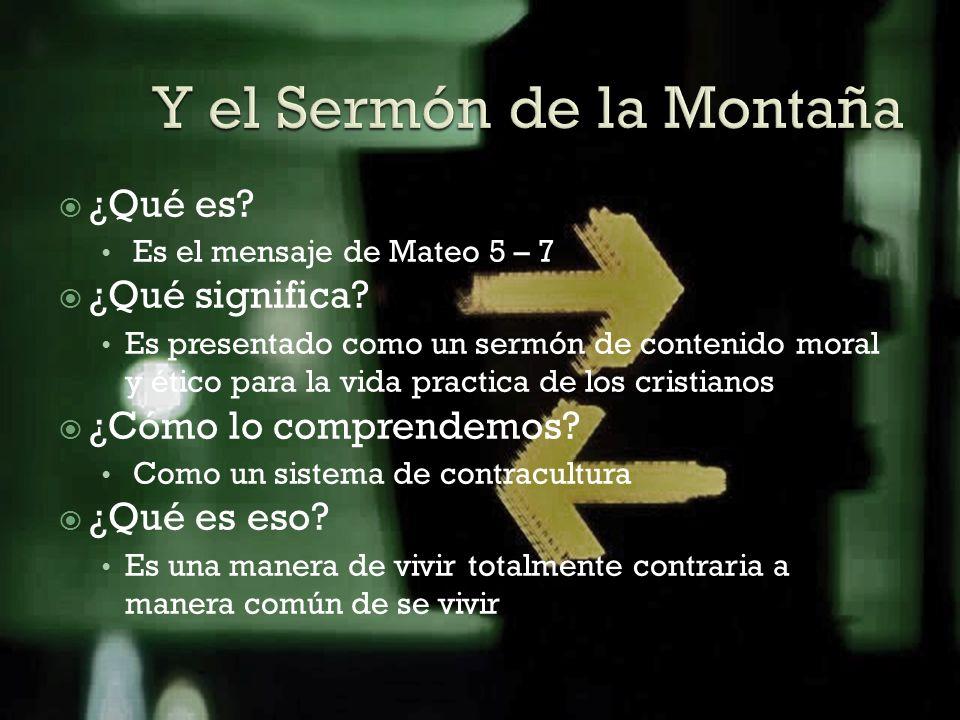 Y el Sermón de la Montaña