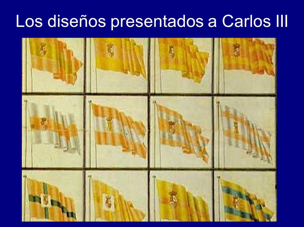 Los diseños presentados a Carlos III