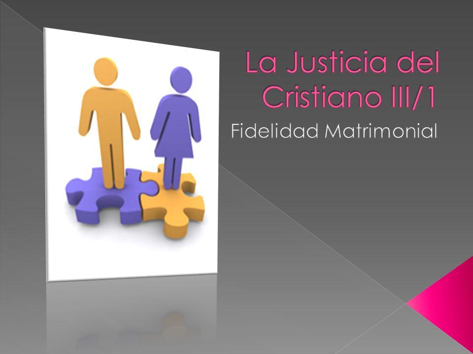 La Justicia del Cristiano III/1