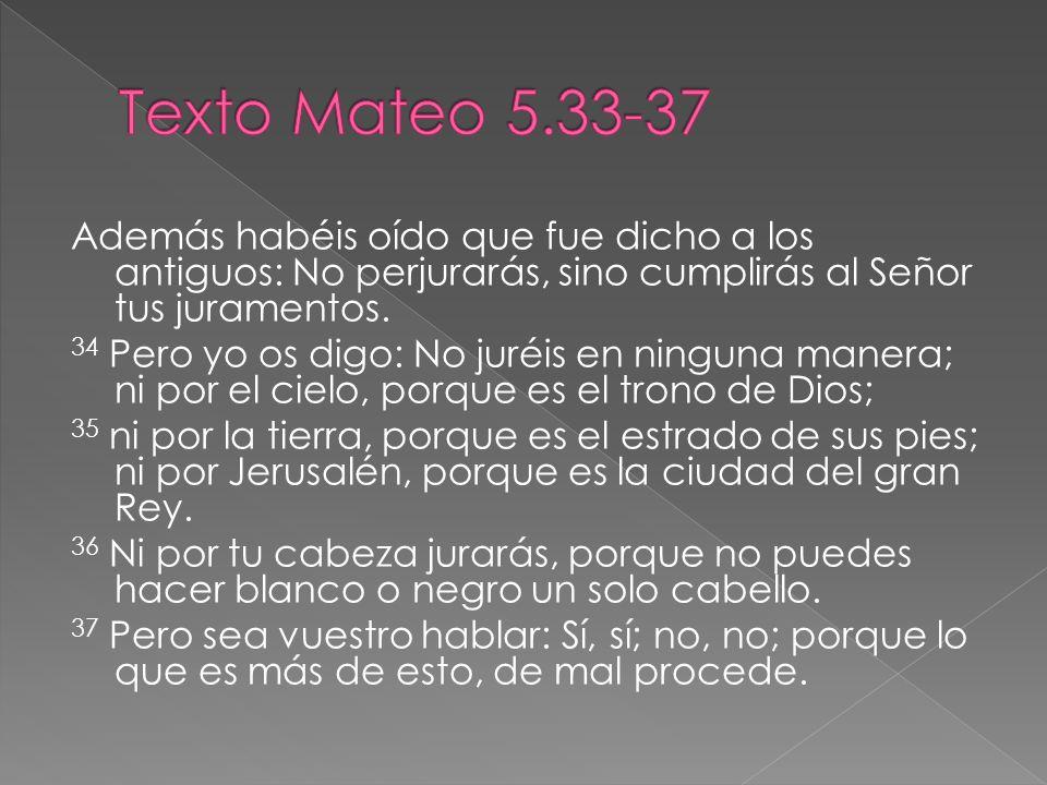Texto Mateo 5.33-37