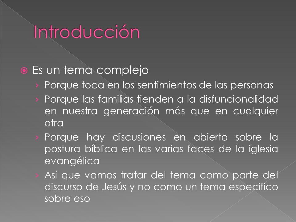 Introducción Es un tema complejo