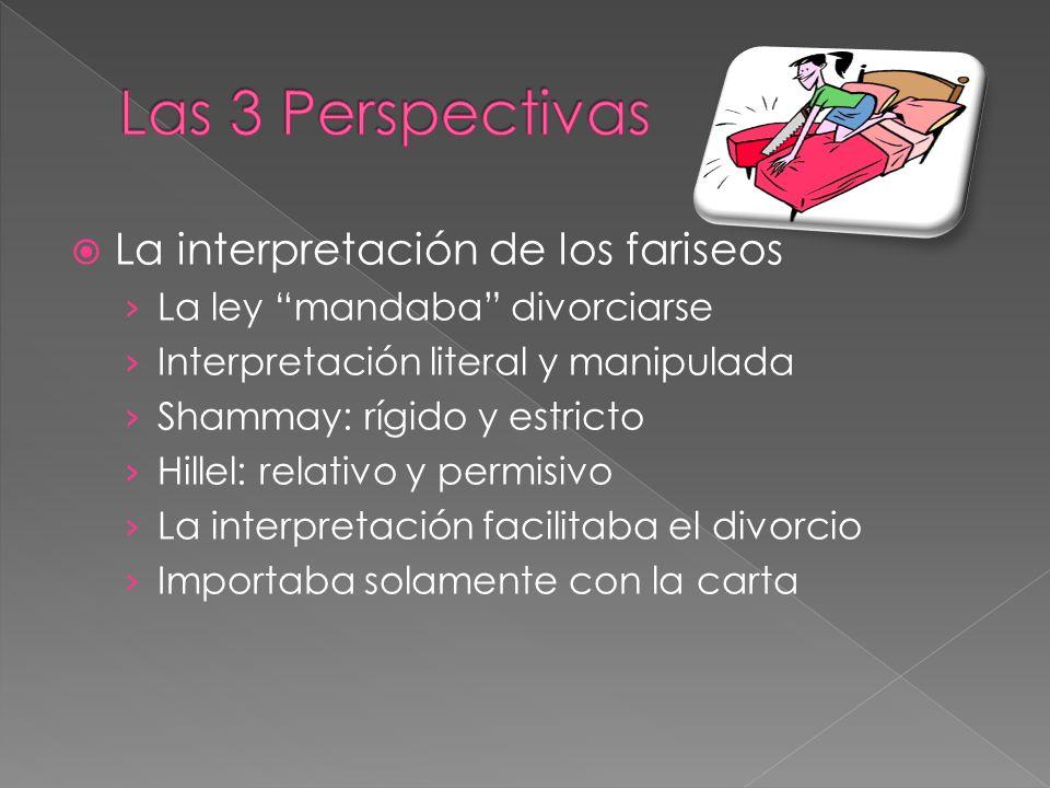 Las 3 Perspectivas La interpretación de los fariseos