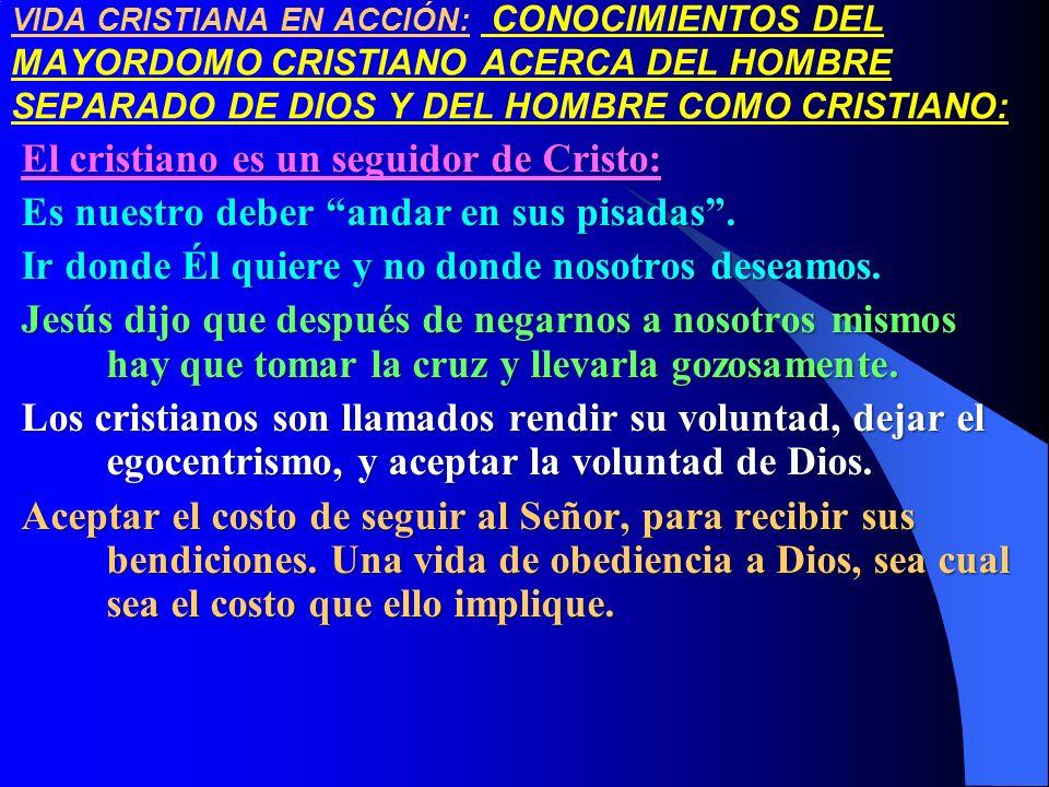El cristiano es un seguidor de Cristo: