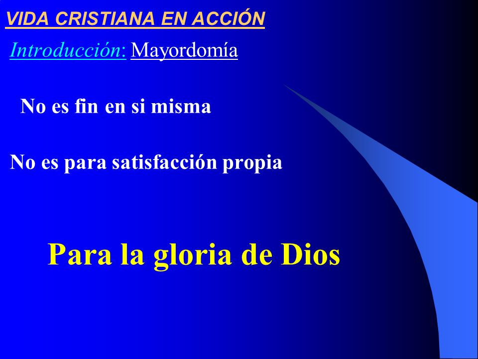 VIDA CRISTIANA EN ACCIÓN