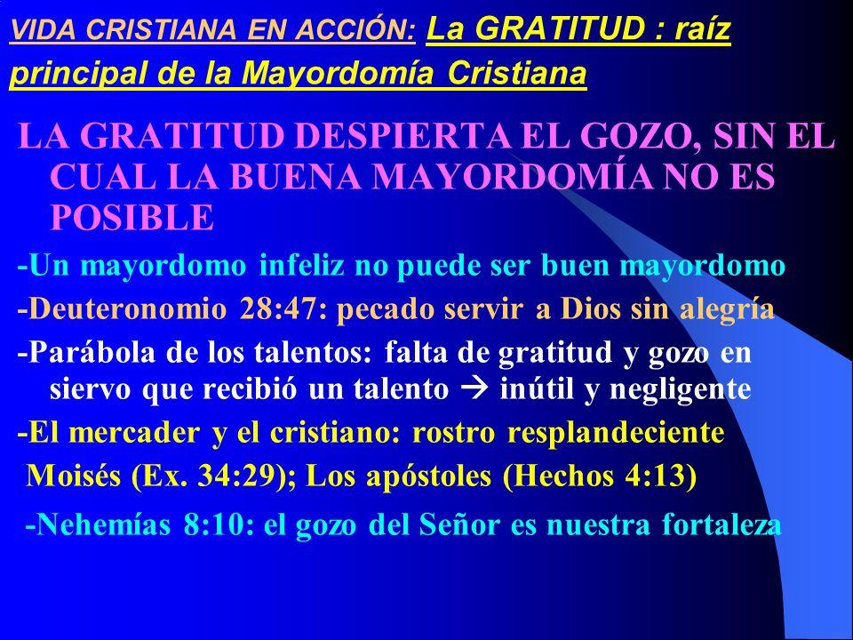 VIDA CRISTIANA EN ACCIÓN: La GRATITUD : raíz principal de la Mayordomía Cristiana