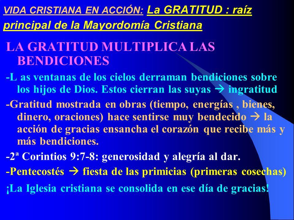 LA GRATITUD MULTIPLICA LAS BENDICIONES