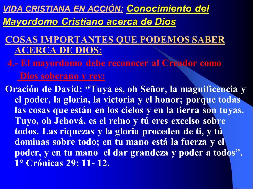 COSAS IMPORTANTES QUE PODEMOS SABER ACERCA DE DIOS: