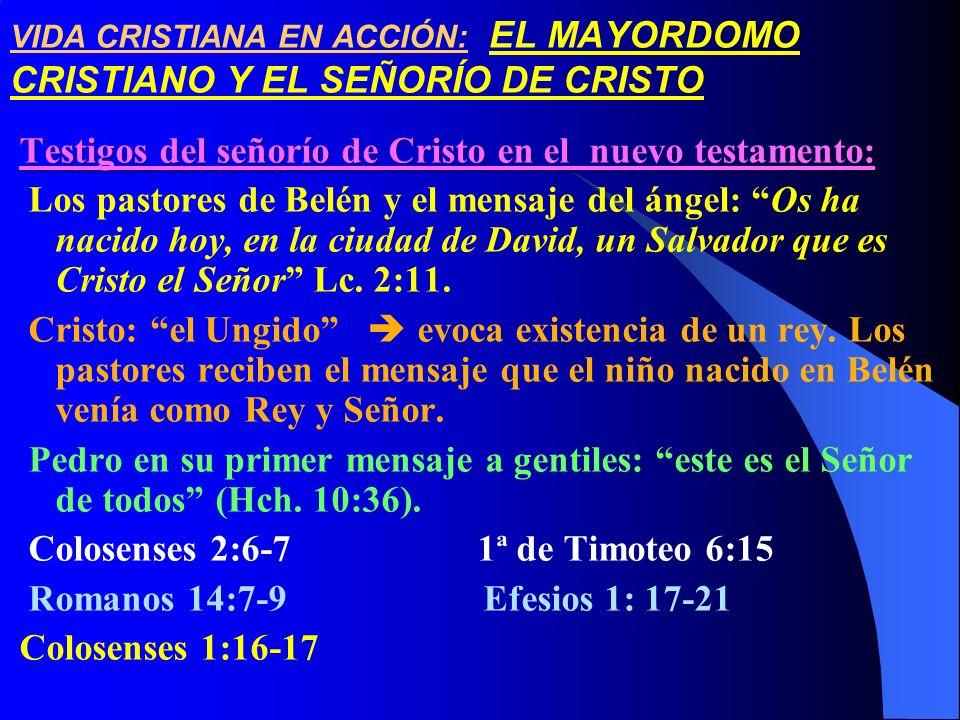 Testigos del señorío de Cristo en el nuevo testamento: