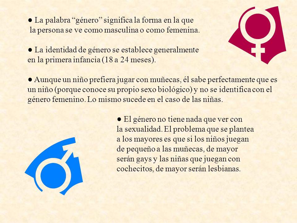 ● La palabra género significa la forma en la que