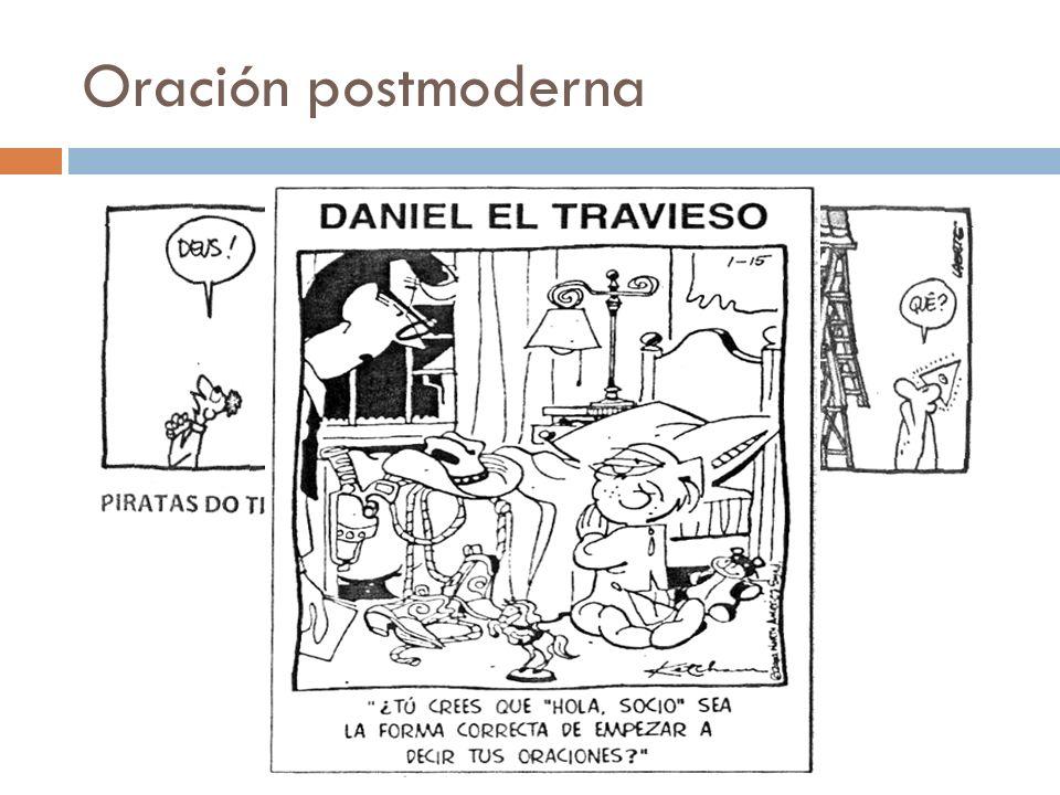 Oración postmoderna