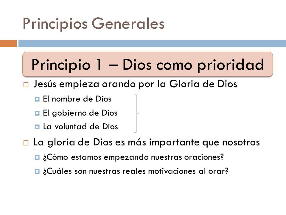 Principio 1 – Dios como prioridad