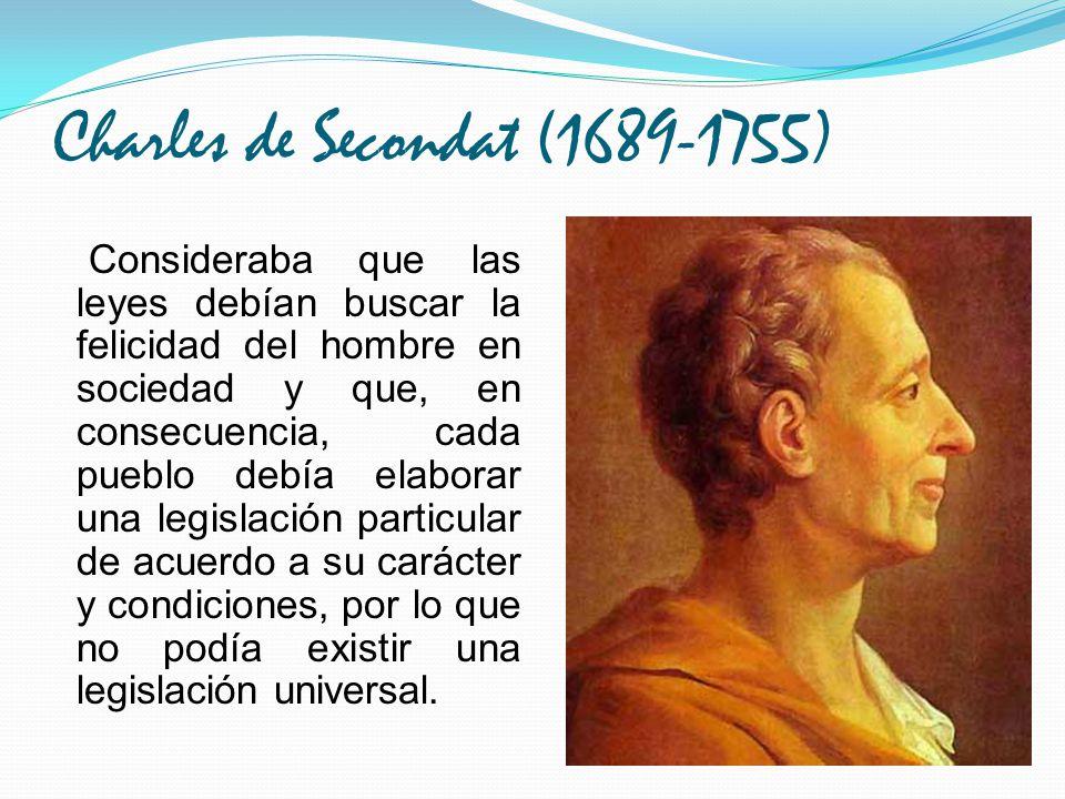 Charles de Secondat (1689-1755)