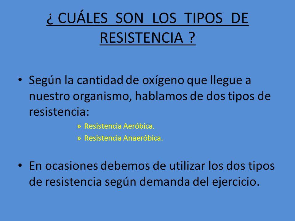 ¿ CUÁLES SON LOS TIPOS DE RESISTENCIA