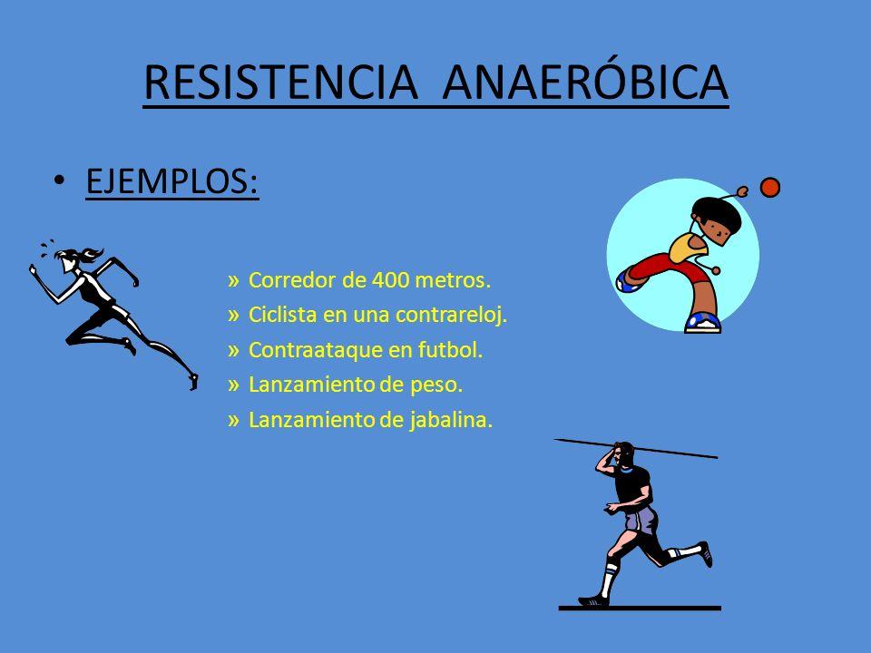 RESISTENCIA ANAERÓBICA
