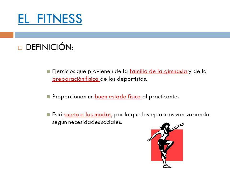 EL FITNESS DEFINICIÓN: