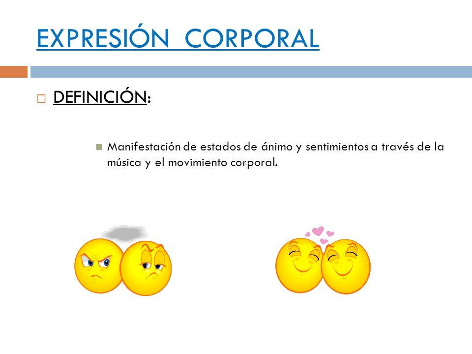 EXPRESIÓN CORPORAL DEFINICIÓN: