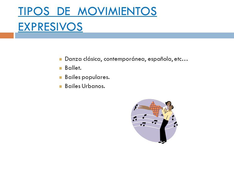 TIPOS DE MOVIMIENTOS EXPRESIVOS
