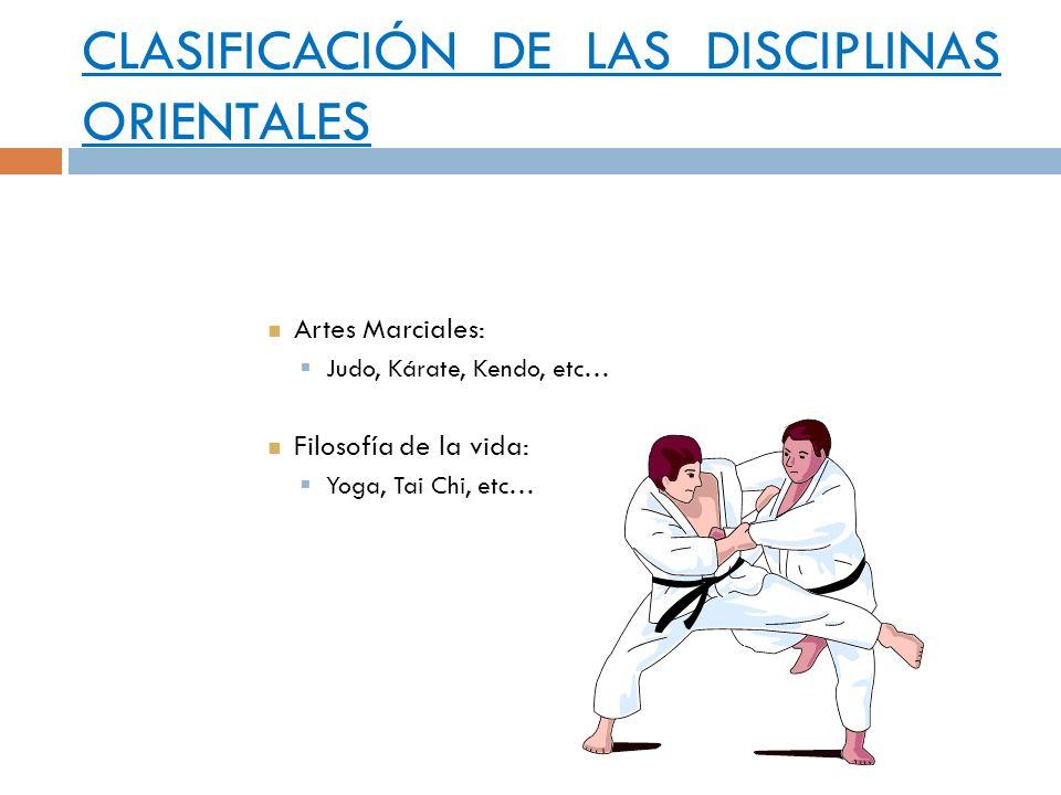 CLASIFICACIÓN DE LAS DISCIPLINAS ORIENTALES