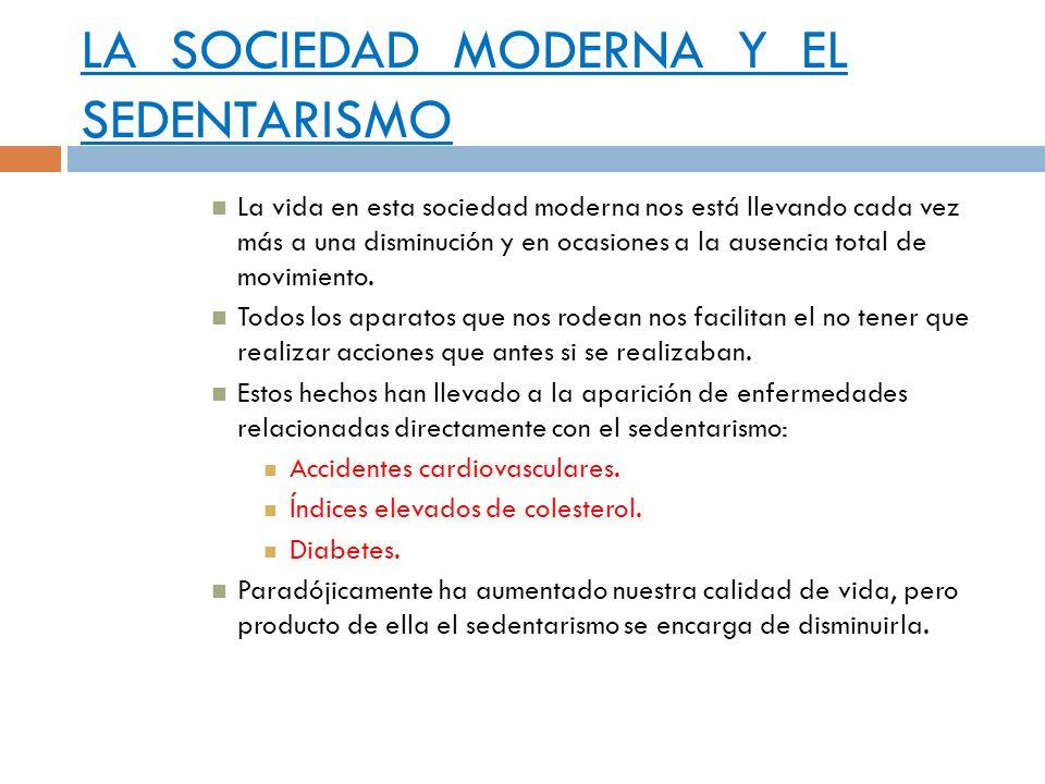 LA SOCIEDAD MODERNA Y EL SEDENTARISMO