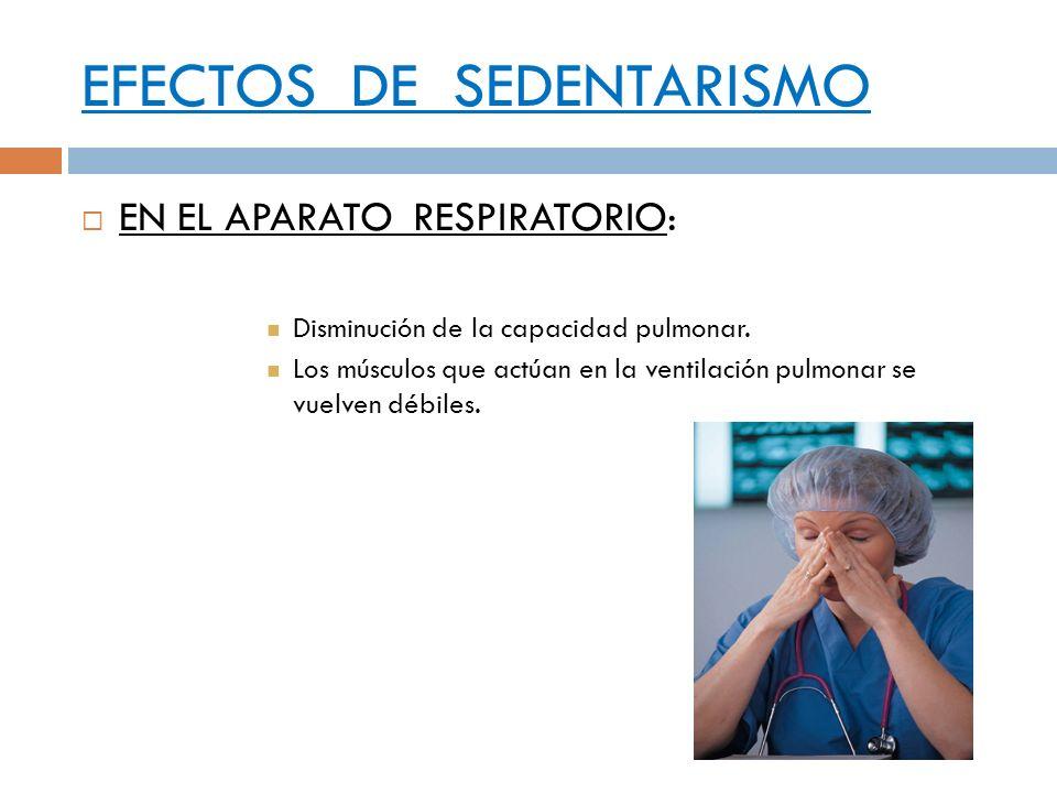 EFECTOS DE SEDENTARISMO