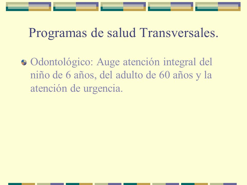 Programas de salud Transversales.
