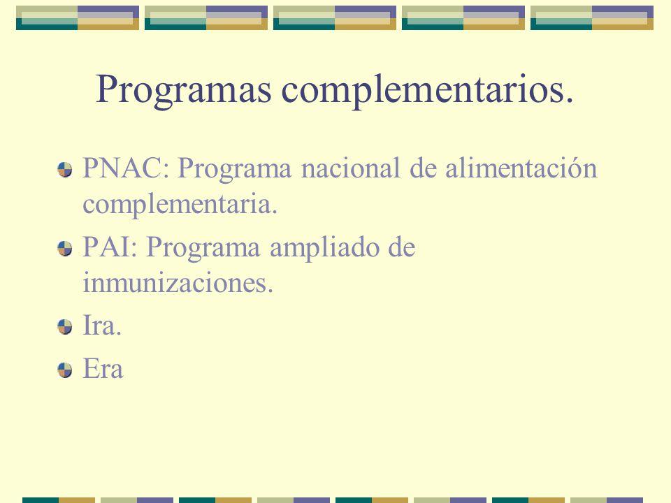 Programas complementarios.