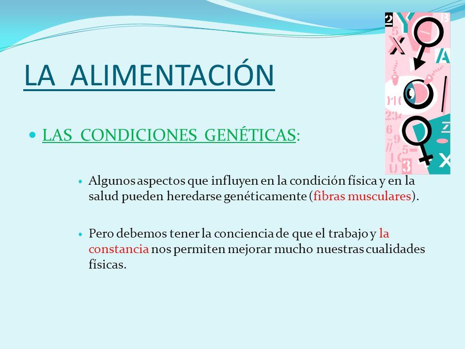 LA ALIMENTACIÓN LAS CONDICIONES GENÉTICAS: