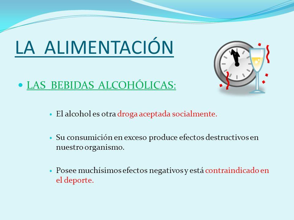 LA ALIMENTACIÓN LAS BEBIDAS ALCOHÓLICAS: