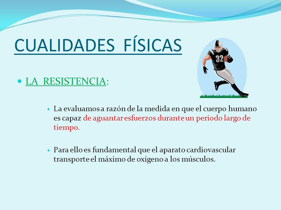 CUALIDADES FÍSICAS LA RESISTENCIA: