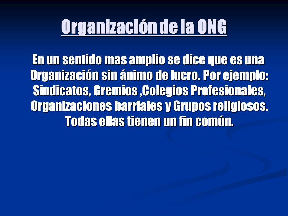Organización de la ONG