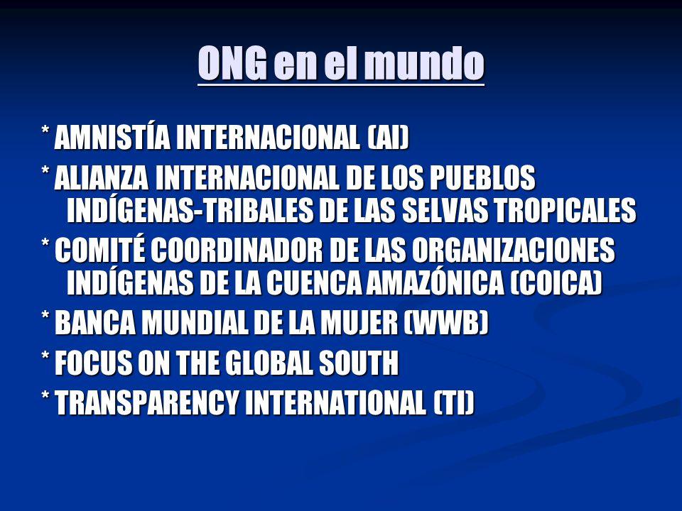 ONG en el mundo * AMNISTÍA INTERNACIONAL (AI)