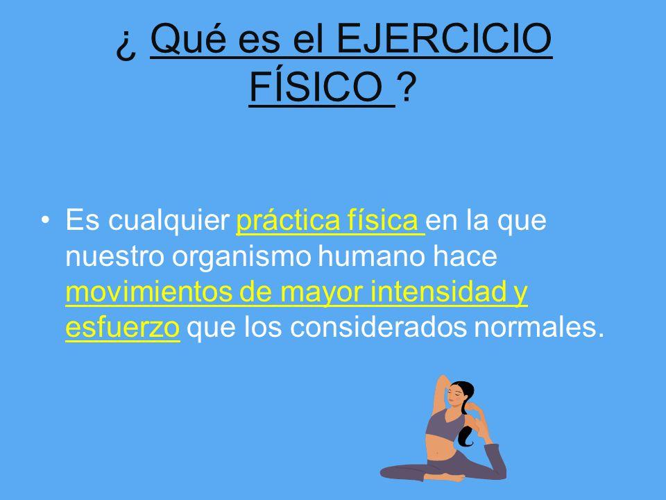 ¿ Qué es el EJERCICIO FÍSICO