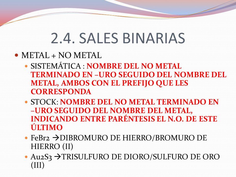 2.4. SALES BINARIAS METAL + NO METAL
